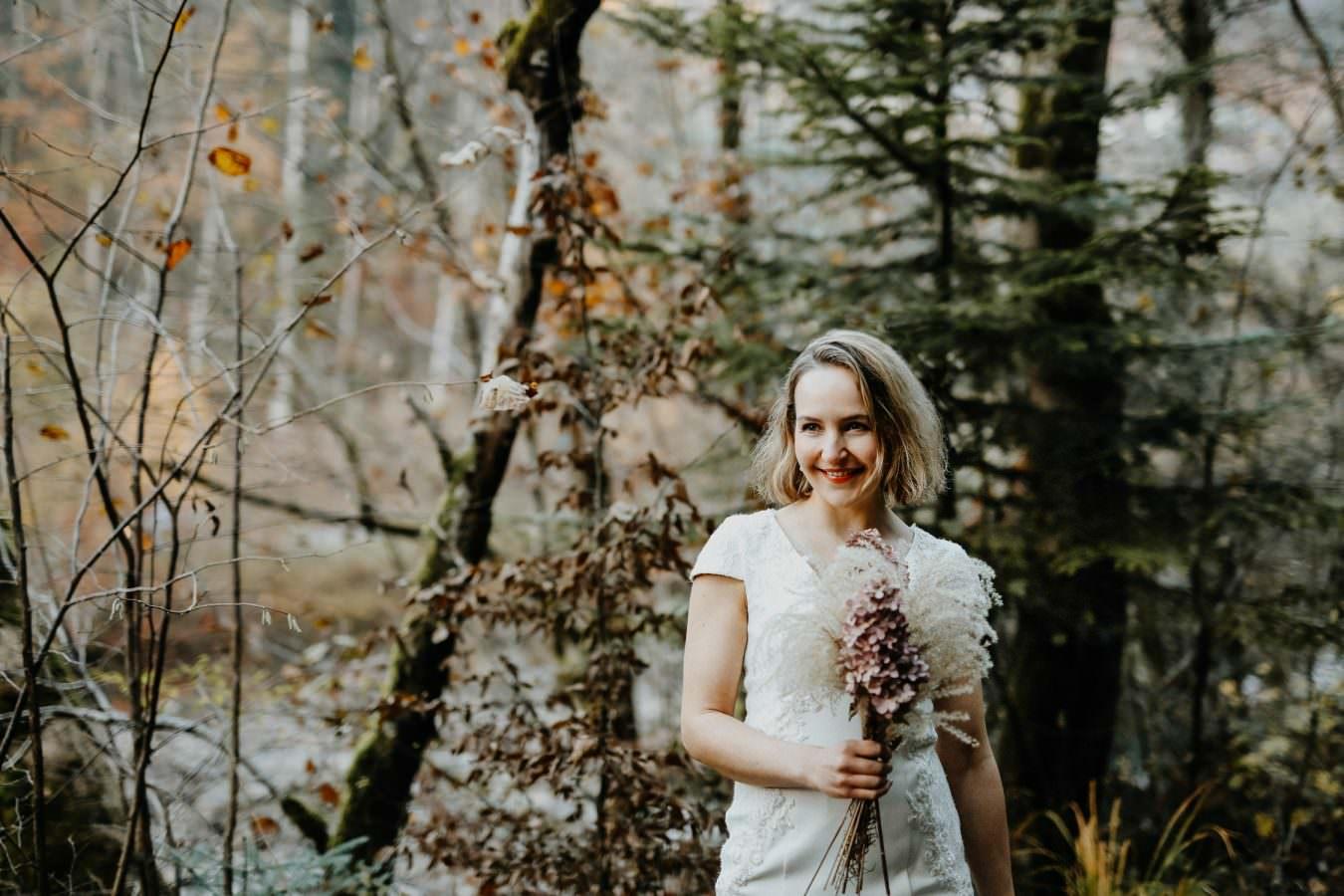 Kleid für Braut Portaitshooting Vorarlberg