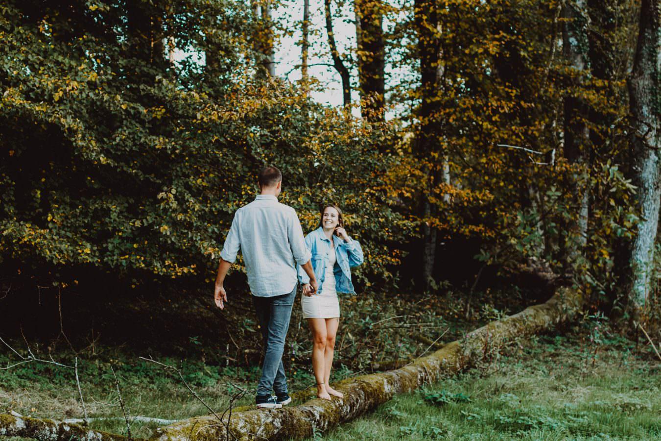 Hochzeitsfotografie St.Gallen Paar im Wald