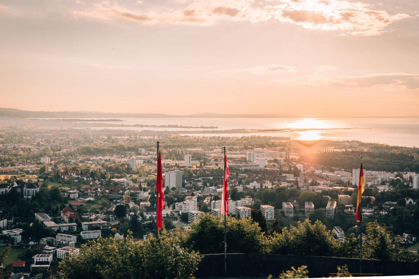 St. Gebhardsberg Panorama Sonnenuntergang