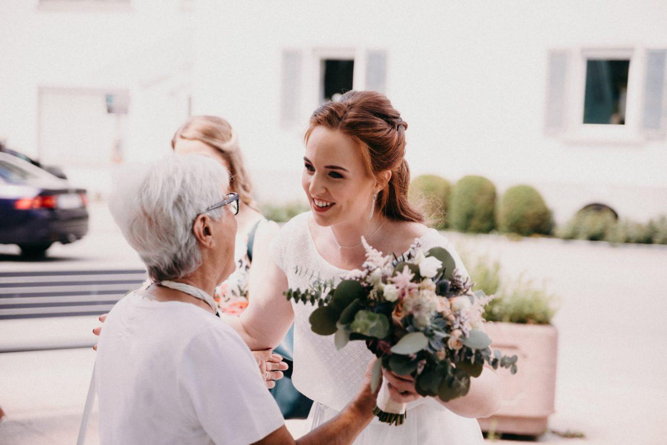 Braut Empfang
