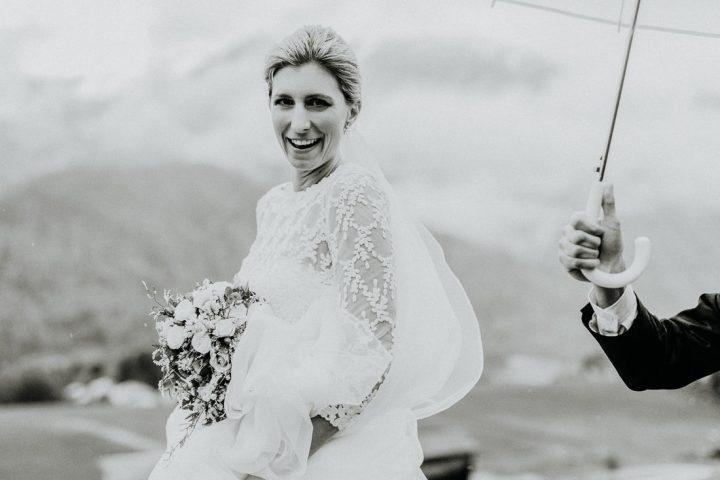 Hochzeit im Montafon Portraitshooting Schruns Braut