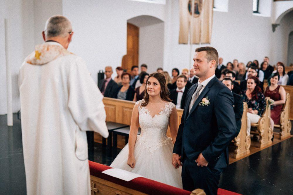 Trauung Hochzeit Bildstein von vorne